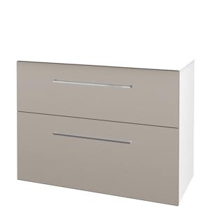Dřevojas Koupelnová skříň BIG INN SZZ2 100 N01 Bílá lesk / Úchytka T04 / N07 Stone 200824E