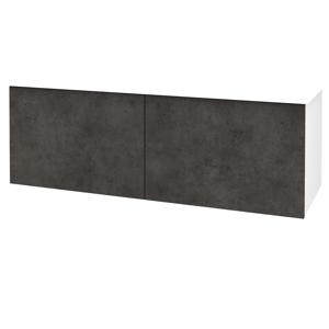 Dřevojas Koupelnová skříň BIG INN SZZ2 125 N01 Bílá lesk / Úchytka T04 / D16 Beton tmavý 201586E