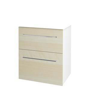 Dřevojas Koupelnová skříň BIG INN SZZ2 65 N01 Bílá lesk / Úchytka T04 / D02 Bříza 132811E