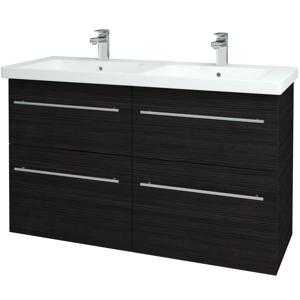 Dřevojas Koupelnová skříň BIG INN SZZ4 125 D14 Basalt / Úchytka T02 / D14 Basalt 149499B