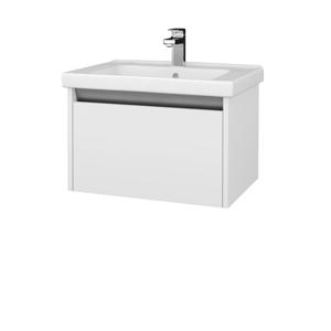 Dřevojas Koupelnová skříň BONO SZZ 65 (umyvadlo Harmonia) N09 Bílá mat / N09 Bílá mat 204051