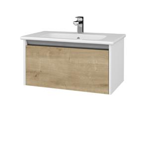Dřevojas Koupelnová skříň BONO SZZ 80 (umyvadlo Euphoria) N01 Bílá lesk / D09 Arlington 203566