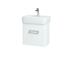 Dřevojas Koupelnová skříň DOOR SZD 45 N01 Bílá lesk / L01 Bílá vysoký lesk / Pravé 134587P