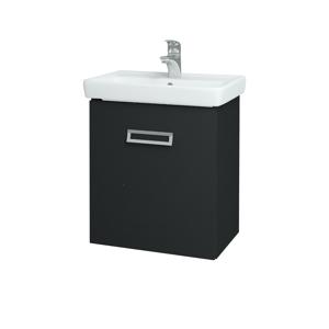 Dřevojas Koupelnová skříň DOOR SZD 55 L03 Antracit vysoký lesk / L03 Antracit vysoký lesk / Pravé 151713P