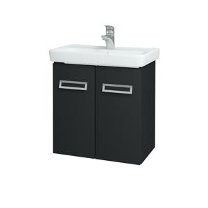 Dřevojas Koupelnová skříň DOOR SZD2 60 L03 Antracit vysoký lesk / L03 Antracit vysoký lesk 151744