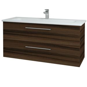 Dřevojas Koupelnová skříň GIO SZZ2 120 D06 Ořech / Úchytka T02 / D06 Ořech 130084B