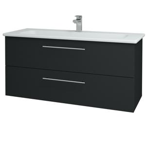 Dřevojas Koupelnová skříň GIO SZZ2 120 L03 Antracit vysoký lesk / Úchytka T02 / L03 Antracit vysoký lesk 130145B
