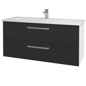 Dřevojas Koupelnová skříň GIO SZZ2 120 N01 Bílá lesk / Úchytka T01 / N03 Graphite 202996A