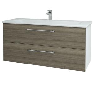 Dřevojas Koupelnová skříň GIO SZZ2 120 N01 Bílá lesk / Úchytka T02 / D03 Cafe 129910B