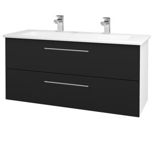 Dřevojas Koupelnová skříň GIO SZZ2 120 N01 Bílá lesk / Úchytka T02 / N08 Cosmo 203023BU