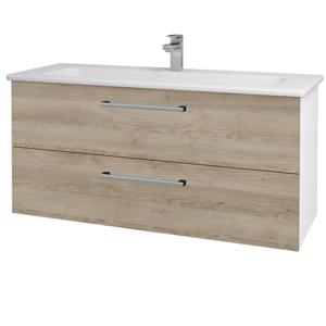 Dřevojas Koupelnová skříň GIO SZZ2 120 N01 Bílá lesk / Úchytka T03 / D17 Colorado 202965C
