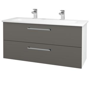 Dřevojas Koupelnová skříň GIO SZZ2 120 N01 Bílá lesk / Úchytka T03 / N06 Lava 203009CU