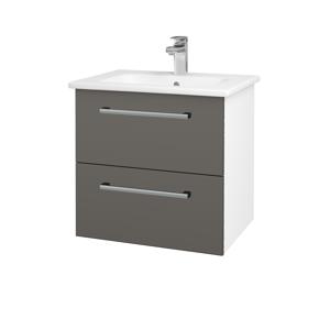 Dřevojas Koupelnová skříň GIO SZZ2 60 N01 Bílá lesk / Úchytka T03 / N06 Lava 202071C