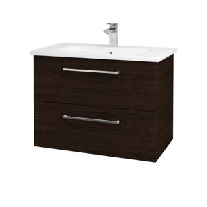 Dřevojas Koupelnová skříň GIO SZZ2 80 D08 Wenge / Úchytka T04 / D08 Wenge 82089E