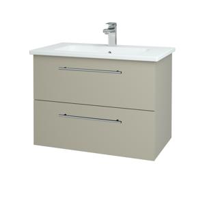 Dřevojas Koupelnová skříň GIO SZZ2 80 L04 Béžová vysoký lesk / Úchytka T02 / L04 Béžová vysoký lesk 146443B