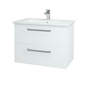 Dřevojas Koupelnová skříň GIO SZZ2 80 N01 Bílá lesk / Úchytka T01 / L01 Bílá vysoký lesk 81914A