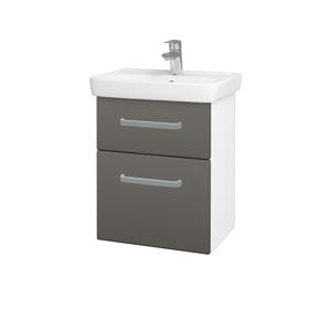 Dřevojas Koupelnová skříň GO SZZ2 50 N01 Bílá lesk / Úchytka T01 / N06 Lava 204549A