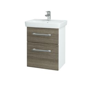Dřevojas Koupelnová skříň GO SZZ2 50 N01 Bílá lesk / Úchytka T03 / D03 Cafe 27912C