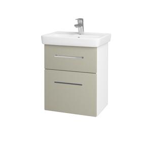 Dřevojas Koupelnová skříň GO SZZ2 50 N01 Bílá lesk / Úchytka T04 / L04 Béžová vysoký lesk 148317E