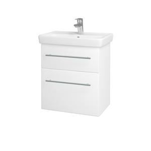 Dřevojas Koupelnová skříň GO SZZ2 55 N01 Bílá lesk / Úchytka T02 / M01 Bílá mat 247195B