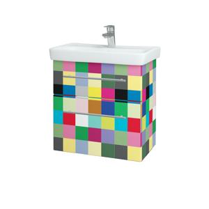 Dřevojas Koupelnová skříň GO SZZ2 60 IND Individual / Úchytka T02 / IND Individual 148645B