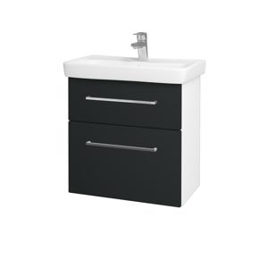 Dřevojas Koupelnová skříň GO SZZ2 60 N01 Bílá lesk / Úchytka T04 / L03 Antracit vysoký lesk 148652E