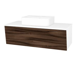Dřevojas Koupelnová skříň INVENCE SZZ 100 (umyvadlo Joy 2) N01 Bílá lesk / D06 Ořech 182793