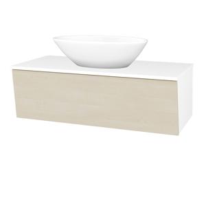 Dřevojas Koupelnová skříň INVENCE SZZ 100 (umyvadlo Triumph) N01 Bílá lesk / D02 Bříza 183912