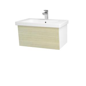 Dřevojas Koupelnová skříň INVENCE SZZ 65 (umyvadlo Harmonia) N01 Bílá lesk / D04 Dub 176235