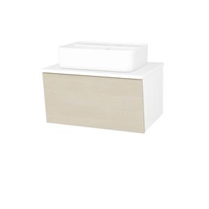 Dřevojas Koupelnová skříň INVENCE SZZ 65 (umyvadlo Joy 2) N01 Bílá lesk / D02 Bříza 177379