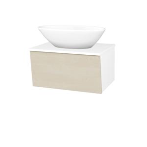 Dřevojas Koupelnová skříň INVENCE SZZ 65 (umyvadlo Triumph) N01 Bílá lesk / D02 Bříza 178536