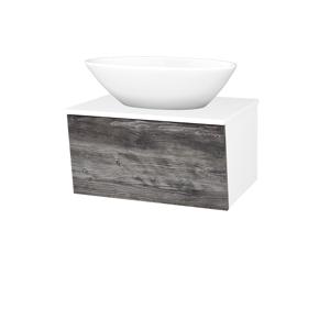 Dřevojas Koupelnová skříň INVENCE SZZ 65 (umyvadlo Triumph) N01 Bílá lesk / D10 Borovice Jackson 178604