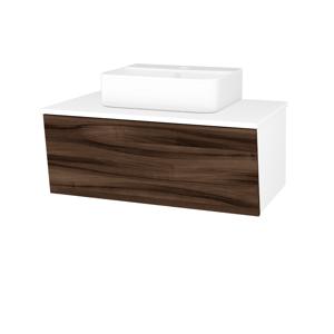Dřevojas Koupelnová skříň INVENCE SZZ 80 (umyvadlo Joy 3) N01 Bílá lesk / D06 Ořech 181055