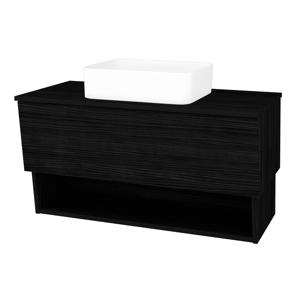 Dřevojas Koupelnová skříň INVENCE SZZO 100 (umyvadlo Joy) D14 Basalt / D14 Basalt 181826