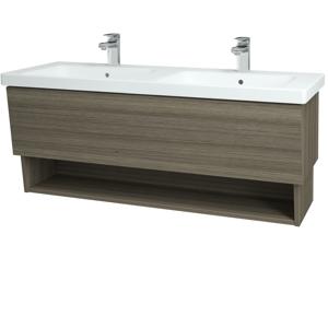 Dřevojas Koupelnová skříň INVENCE SZZO 125 (dvojumyvadlo Harmonia) D03 Cafe / D03 Cafe 137939