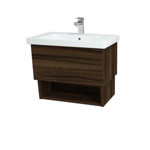 Dřevojas Koupelnová skříň INVENCE SZZO 65 (umyvadlo Harmonia) D06 Ořech / D06 Ořech 147006
