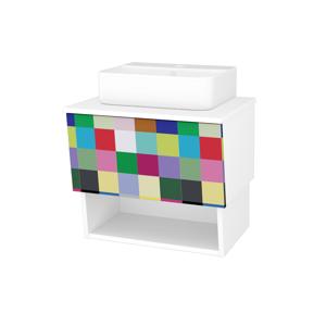 Dřevojas Koupelnová skříň INVENCE SZZO 65 (umyvadlo Joy 3) N01 Bílá lesk / IND Individual 177782