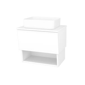Dřevojas Koupelnová skříň INVENCE SZZO 65 (umyvadlo Joy) N01 Bílá lesk / L01 Bílá vysoký lesk 176631