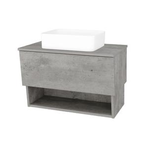 Dřevojas Koupelnová skříň INVENCE SZZO 80 (umyvadlo Joy) D01 Beton / D01 Beton 179045