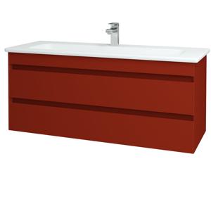 Dřevojas Koupelnová skříň MAJESTY SZZ2 120 L07 Červená vysoký lesk / L07 Červená vysoký lesk 120405