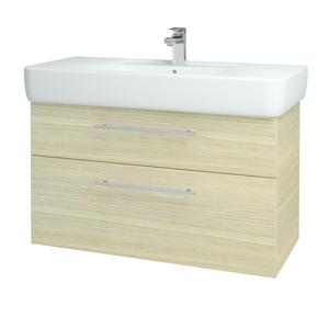 Dřevojas Koupelnová skříň Q MAX SZZ2 100 D04 Dub / Úchytka T02 / D04 Dub 132033B