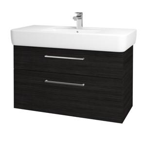 Dřevojas Koupelnová skříň Q MAX SZZ2 100 D14 Basalt / Úchytka T04 / D14 Basalt 149161E
