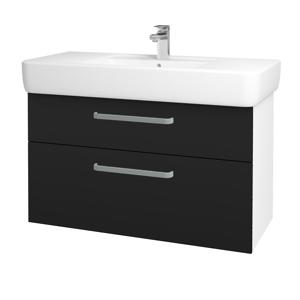 Dřevojas Koupelnová skříň Q MAX SZZ2 100 N01 Bílá lesk / Úchytka T01 / N08 Cosmo 198879A