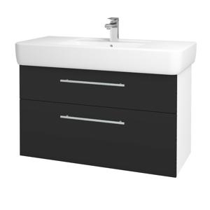 Dřevojas Koupelnová skříň Q MAX SZZ2 100 N01 Bílá lesk / Úchytka T02 / N03 Graphite 198848B