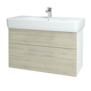 Dřevojas Koupelnová skříň Q MAX SZZ2 100 N01 Bílá lesk / Úchytka T03 / D05 Oregon 131838C