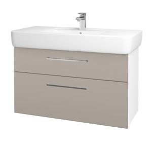 Dřevojas Koupelnová skříň Q MAX SZZ2 100 N01 Bílá lesk / Úchytka T04 / N07 Stone 198862E