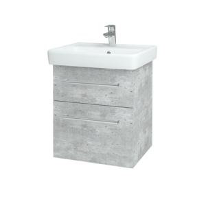 Dřevojas Koupelnová skříň Q MAX SZZ2 55 D01 Beton / Úchytka T03 / D01 Beton 67512C