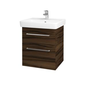 Dřevojas Koupelnová skříň Q MAX SZZ2 55 D06 Ořech / Úchytka T04 / D06 Ořech 61299E