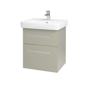 Dřevojas Koupelnová skříň Q MAX SZZ2 55 M05 Béžová mat / Úchytka T03 / M05 Béžová mat 198015C
