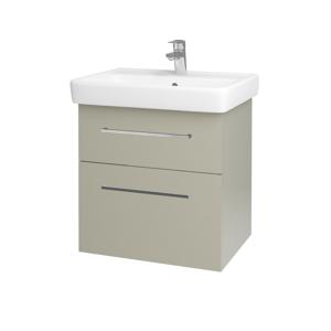 Dřevojas Koupelnová skříň Q MAX SZZ2 60 M05 Béžová mat / Úchytka T04 / M05 Béžová mat 198343E